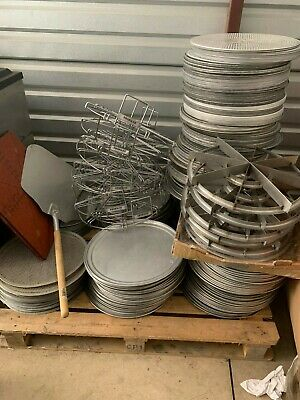 commercial pizza slicers  pans baking screens and serving trays