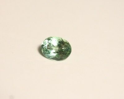 0.85ct Neon Teal Apatite - Clean Custom Cut Oval Gemstone