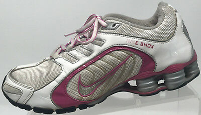 premium selection 3ce73 27e13 NIKE SHOX NAVINA Pink White Glitter Running Walking Trail Sneakers Shoes  8.5 40
