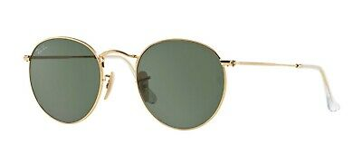 Ray-Ban ROUND METAL RB 3447 Gold/G-15 Classic Green (001) Sunglasses