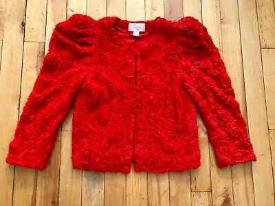 1bbee7ce2e48 The Garden Collection By H m Red Cropped Jacket   Roses All Over Rare    Size 10