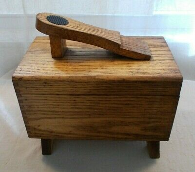 Groovy Vtg Shoe Shine Box Cavalier Guardsman Deluxe Dovetail Wood Ibusinesslaw Wood Chair Design Ideas Ibusinesslaworg