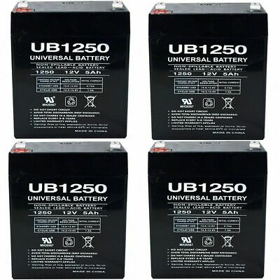 12V 5AH SLA Replaces np4-12 ub1245 gp1245 ps-1250 ps1250 Mighty Max 9 Pack