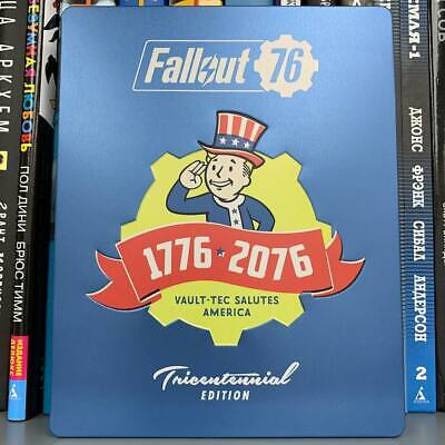 Fallout 76 PS4 Tricentennial Steelbook w/ Sealed Limited Edition Action Figures