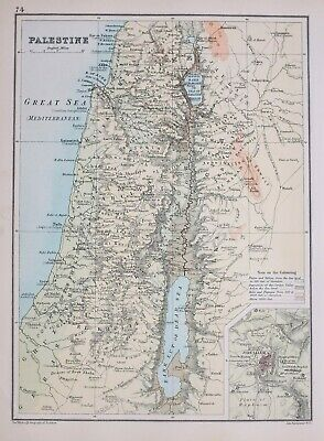 Johnston 1906 Map Galilee Samaria Judea Perea Phoenicia Decapolis Palestine
