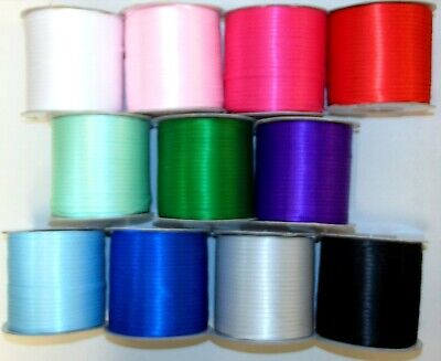 "Satin Ribbon Double Sided 3mm (1/8"") wide 5 or 10m lengths 11 Colours"
