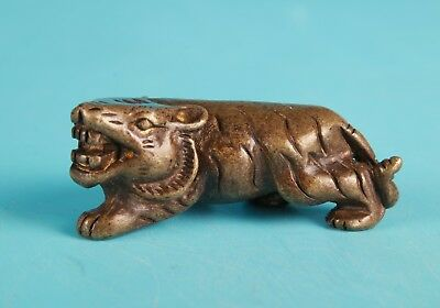 Unique Chinese Bronze Solid Tiger Statue Mascot Collection Gift