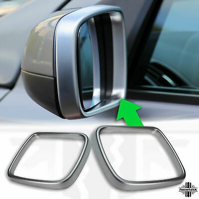 Door/Wing mirror outer trim frame cover silver for Discovery 4 plastic surround