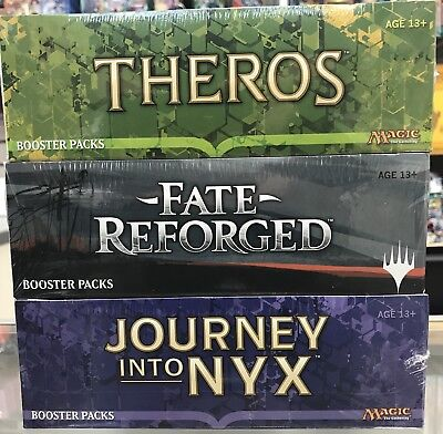 3 - Magic MTG Booster Box Magic The Gathering Theros Fate Reforged Journey Nyx