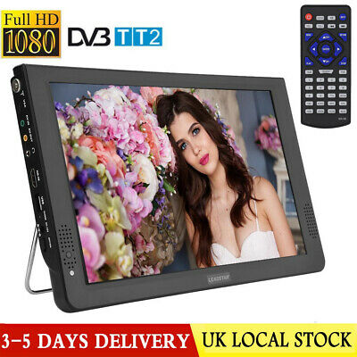 "12"" Inch TFT LED HD TV Portable DVB Television DC12V Digital Analog Car TV"