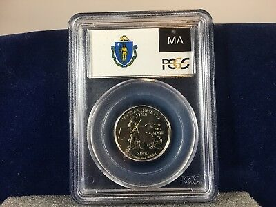 2000-P Massachusetts State Quarter, 25 cent, PCGS MS67 #73714561 White w/ Luster