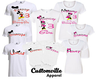 3af8b16d Minnie Birthday Girl Family Matching T-shirts disney trip Vacation party  any age