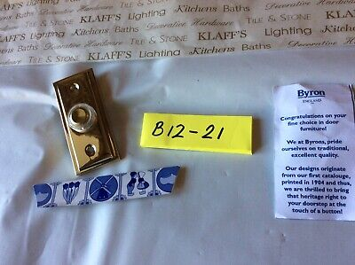 Byron 2222Bs Wired Flush Fitting Push Button Door Bell Brass 85x35mm Brand New