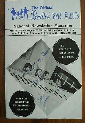THE BEATLES- ORIGINAL FAN CLUB NATIONAL NEWSLETTER  SUMMER 1964 32 pages