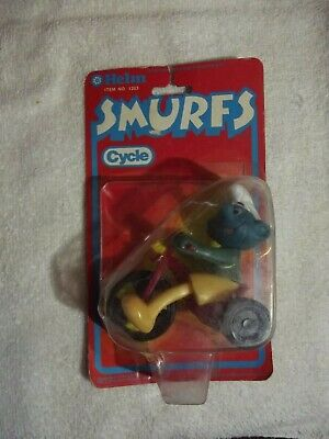 1981 HELM SMURF Smurfs Cycle In Original Package