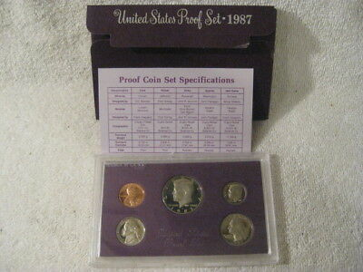1987-s  U.S.Proof set. Genuine. complete and original as issued by US Mint.