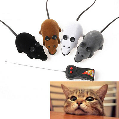 Wireless Remote Control RC Electronic Rat Mouse Mice Toy For Cat Dog Puppy Gifts