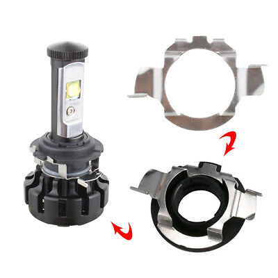 2pcs H7 LED Headlight Bulb Retainers Holder Adapter.For Benz BMW Audi VW Buick