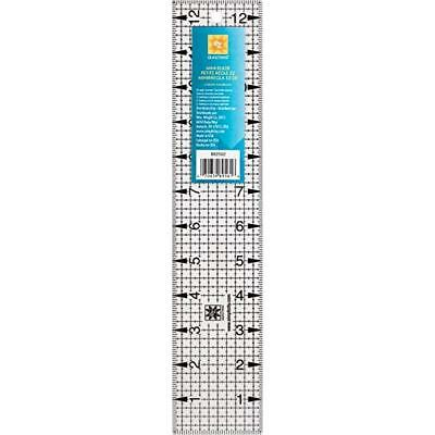 2.5inch x 12.5inch ACRYLIC MINI RULER, TEMPLATE - EZ SIMPLICITY - patchwork bnew