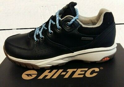 Ladies Hi -Tec Wild-Life Luxe Low I Waterproof Leather Lace Up Trainers