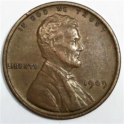 1909 VDB Lincoln Wheat Cent Penny Beautiful High Grade Coin Rare Date