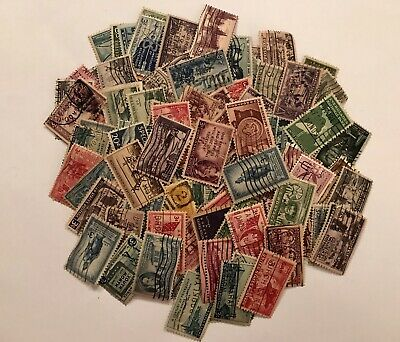 Vintage Mixed Lot Of Cancelled USA Postage Stamps