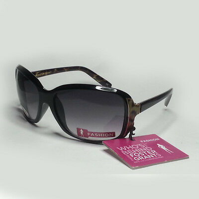 Foster Grant Women Sunglasses Black Wrap Butterfly Style NWT