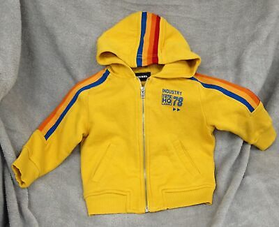 Diesel Yellow Hooded Tracktop Age  9 months RRP £73 Unisex #919
