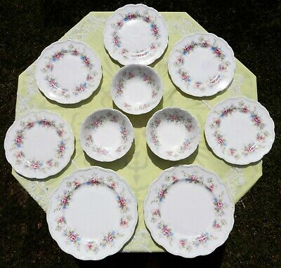 """Royal Albert """"Colleen"""" 10 pieces-Dinner plates Luncheon plates, bowls"""
