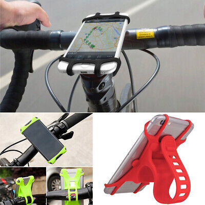 Silicone Motorcycle Bicycle For GPS Cell Phone Holder Mount Handlebar Bike 4'-6'
