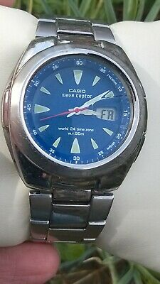 Casio Mens Vintage Waveceptor LCD Ana Quartz Watch WVQ-201