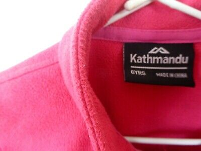 Kathmandu  Altica100  kids Zip fleece jacket hiking sport sz 6 Y pink 2 pockets