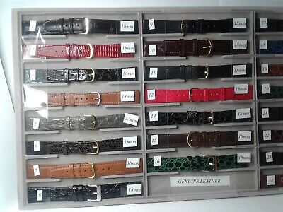 18mm Genuine Leather watch straps Various colours and styles