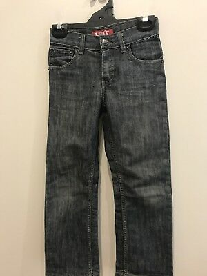 Children Pre Owned Levis Jeans 514 Blue Grey  Size 7 Zip Fly Excellent Condition