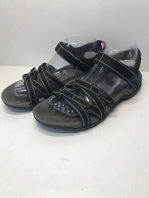 dd183ab3554a TEVA TIRRA SN 4266 Women s Size 8 Sandals Black Purple Slip On Shoes Slide