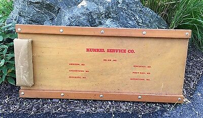 Vintage Mechanic's Creeper Kunkle Service Company Maryland MD Aberdeen Bel Air