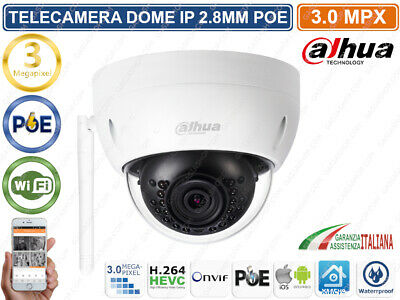 Dahua Ipc-Hdbw1320E-W Telecamera Ip Wifi Wireless 2K 3Mpx 2.8Mm Poe P2P Ip67