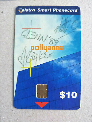 Mint $10 Pollyanna Signed by BandMembers Phonecard 99010019N 09/2001 5000 Issue