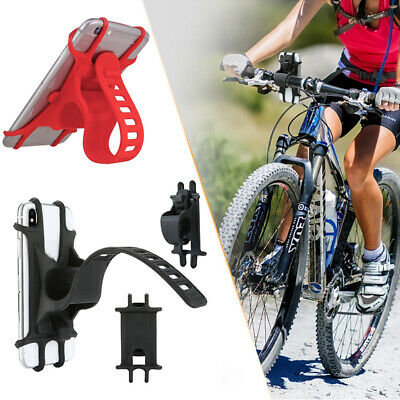 New Universal Stable Bicycle Bike Handlebar Cell Phone Mount GPS Silicone Holder