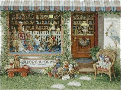 Needlework Crafts Full Embroidery Counted Cross Stitch Kits 14 ct Bears Store