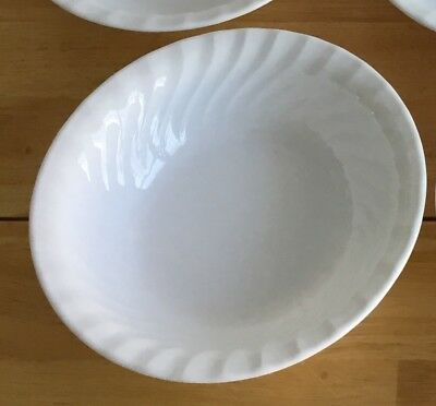 "1 Corelle White Swirl Enhancements  Soup / Cereal Bowl 7 1/4"" EUC USA"