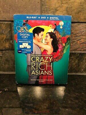 Crazy Rich Asians Blu-Ray DVD Digital 2018 Ships Fast!