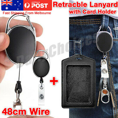 Retractable Lanyard ID Badge Opal Card Holder Business Security Pass AU STOCK