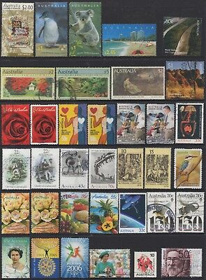 AUSTRALIA No.17 DECIMAL COLLECTION OF (36) STAMPS VFU
