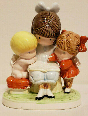 """Joan Walsh Anglund 1983 ceramic figurine """" Story Time """" by Ebeling + Reuss"""