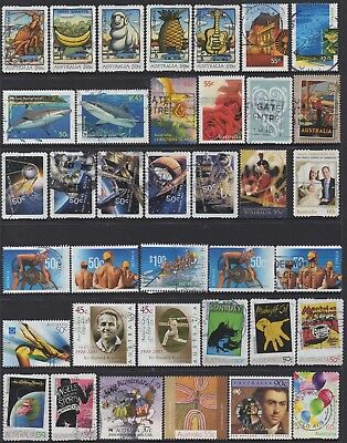 AUSTRALIA No.30 DECIMAL COLLECTION OF (37) STAMPS VFU