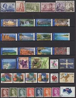 AUSTRALIA No.38 DECIMAL COLLECTION OF (37) STAMPS VFU
