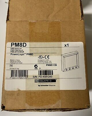 Nib Square D Pm8D Powerlogic Pm8 (Display Only)Ships Free! 6 Month Warranty