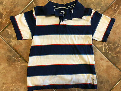 Boys The Childrens Place polo shirt, size 5/6, Striped, GUC