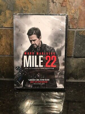Mile 22 DVD New & Sealed Mark Wahlberg Free Shipping Included!
